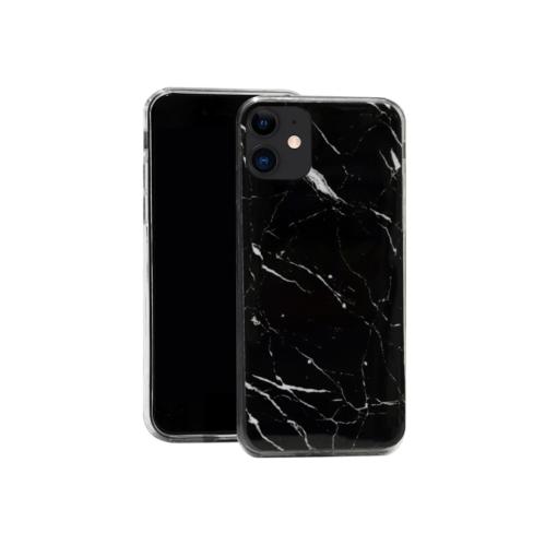 iphone 12 12 pro silikoonst ümbris marmor must 1