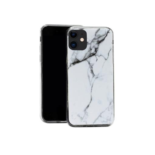 iphone 12 mini silikoonst ümbris marmor valge min