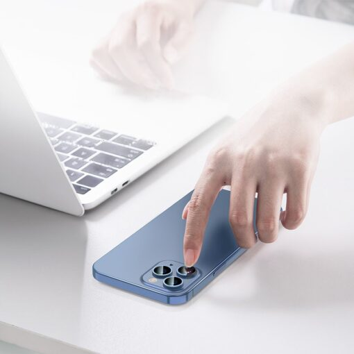 2tk iPhone 12 12 Pro ja 12 Pro Max Baseus kaamera kaitsekile 0.25mm 11