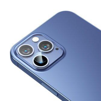 2tk iPhone 12 12 Pro ja 12 Pro Max Baseus kaamera kaitsekile 0.25mm 2