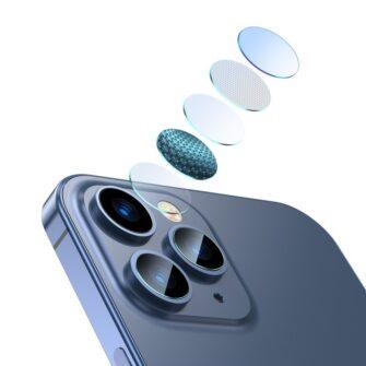 2tk iPhone 12 12 Pro ja 12 Pro Max Baseus kaamera kaitsekile 0.25mm 7