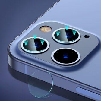 2tk iPhone 12 12 Pro ja 12 Pro Max Baseus kaamera kaitsekile 0.25mm 9