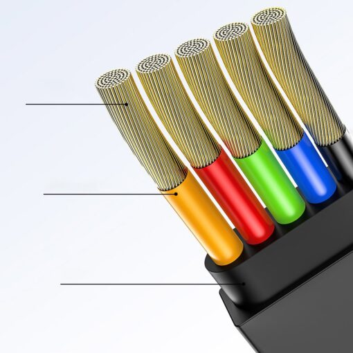 3in1 laadija juhe Micro USB Lightning USB C 1.2m Baseus Golden CAMLT JH01 must 6