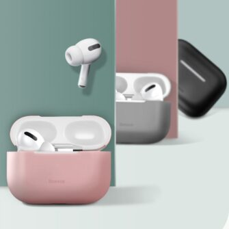 Baseus Silica Gel AirPods Pro Case umbris kaaned roosa ja hall 10