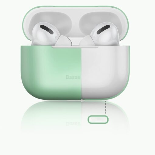 Baseus Silica Gel AirPods Pro Case umbris kaaned roosa ja hall 15