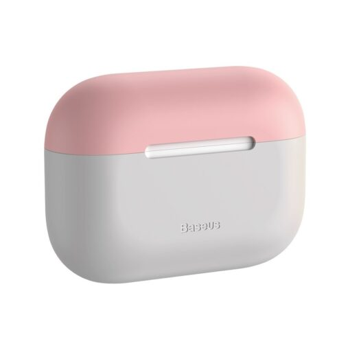 Baseus Silica Gel AirPods Pro Case umbris kaaned roosa ja hall 2