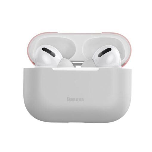Baseus Silica Gel AirPods Pro Case umbris kaaned roosa ja hall 5