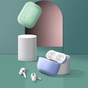 Baseus Silica Gel AirPods Pro Case umbris kaaned roosa ja hall 9