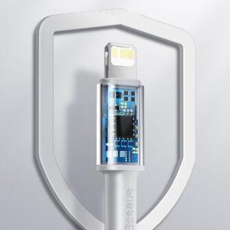 Baseus USB Type C Lightning laadimiskaabel PD 20W 1m CATLGD 02 valge 16