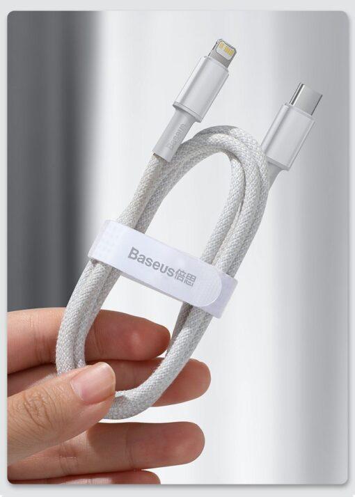 Baseus USB Type C Lightning laadimiskaabel PD 20W 1m CATLGD 02 valge 19