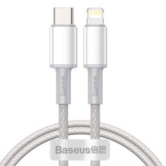 Baseus USB Type C Lightning laadimiskaabel PD 20W 1m CATLGD 02 valge
