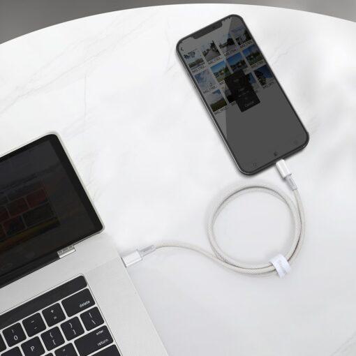 Baseus USB Type C Lightning laadimiskaabel PD 20W 1m CATLGD 02 valge 8