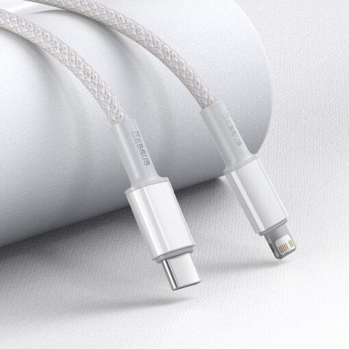 Baseus USB Type C Lightning laadimiskaabel PD 20W 1m CATLGD 02 valge 9