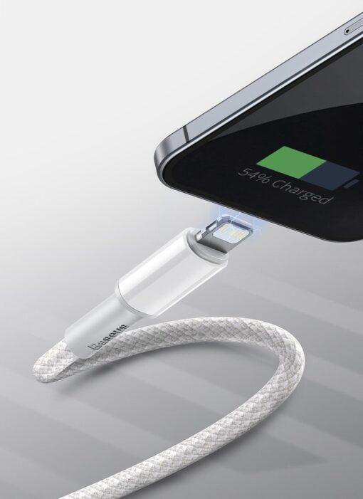 Baseus USB Type C Lightning laadimiskaabel PD 20W 2m CATLGD A01 must 12