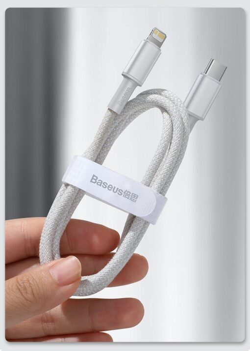 Baseus USB Type C Lightning laadimiskaabel PD 20W 2m CATLGD A01 must 19