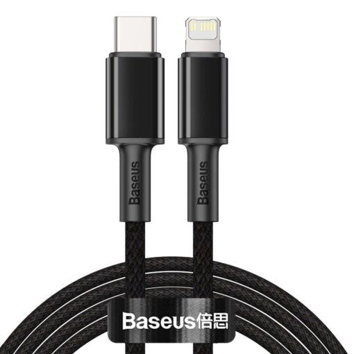 Baseus USB Type C Lightning laadimiskaabel PD 20W 2m CATLGD A01 must