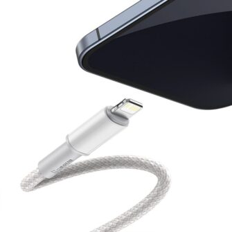 Baseus USB Type C Lightning laadimiskaabel PD 20W 2m CATLGD A02 valge 1