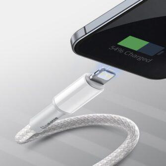Baseus USB Type C Lightning laadimiskaabel PD 20W 2m CATLGD A02 valge 12
