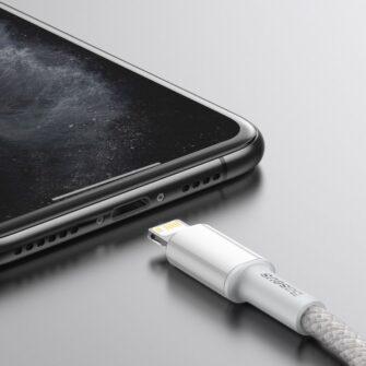 Baseus USB Type C Lightning laadimiskaabel PD 20W 2m CATLGD A02 valge 13