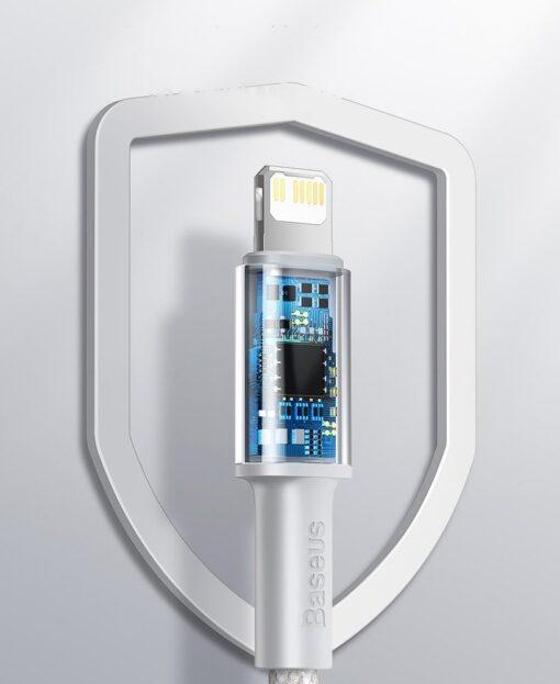 Baseus USB Type C Lightning laadimiskaabel PD 20W 2m CATLGD A02 valge 16