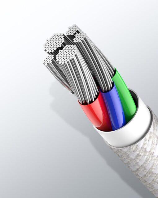 Baseus USB Type C Lightning laadimiskaabel PD 20W 2m CATLGD A02 valge 17