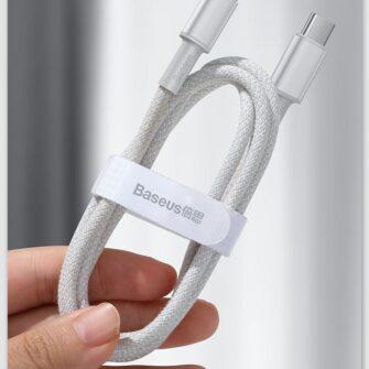 Baseus USB Type C Lightning laadimiskaabel PD 20W 2m CATLGD A02 valge 19
