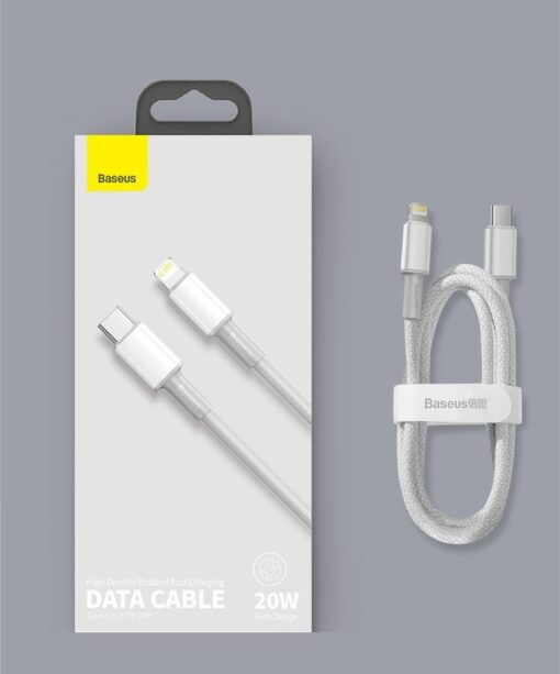 Baseus USB Type C Lightning laadimiskaabel PD 20W 2m CATLGD A02 valge 21