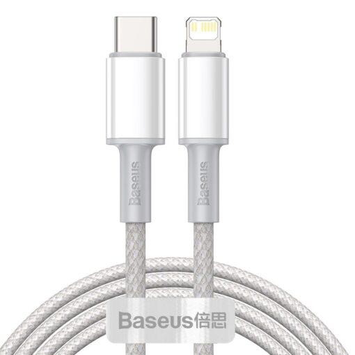 Baseus USB Type C Lightning laadimiskaabel PD 20W 2m CATLGD A02 valge