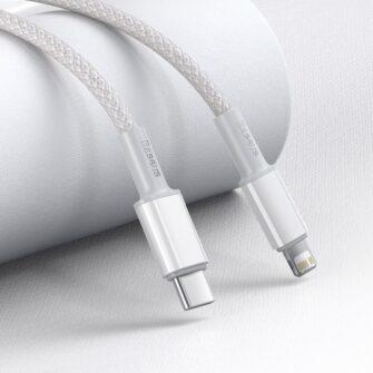Baseus USB Type C Lightning laadimiskaabel PD 20W 2m CATLGD A02 valge 8