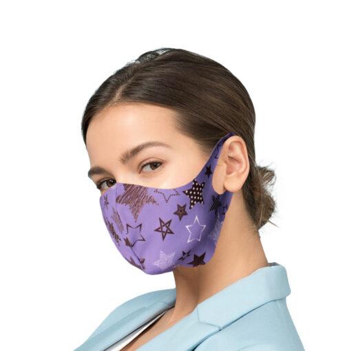 Korduvkasutatav mask hobedaioonidega PURPLE SKY