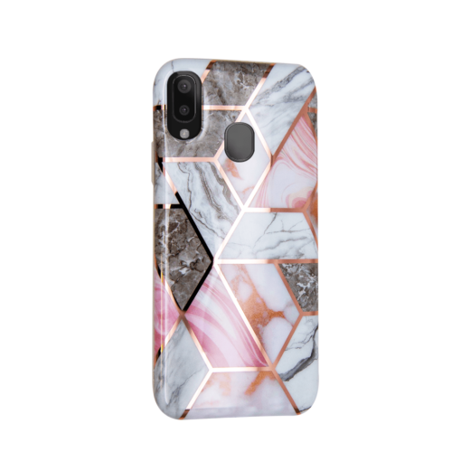 Samsung A40 kaaned silikoonist Cosmo Marble 4