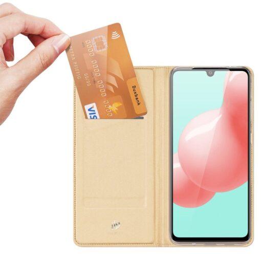 Samsung A41 kaaned Dux Ducis Skin Pro Bookcase kuldne 1