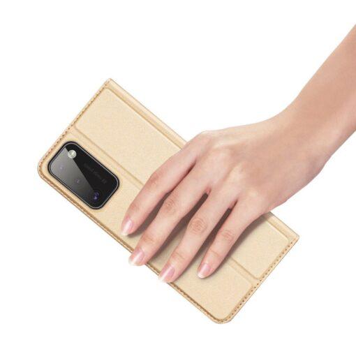 Samsung A41 kaaned Dux Ducis Skin Pro Bookcase kuldne 5