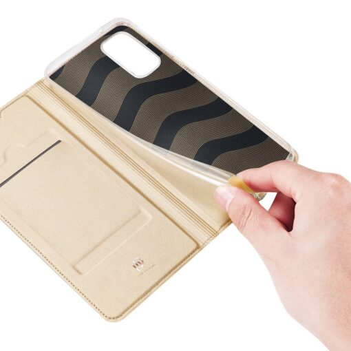 Samsung A41 kaaned Dux Ducis Skin Pro Bookcase kuldne 6