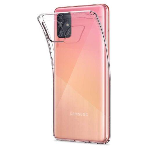 Samsung A51 Spigen Liquid Crystal silikoonist umbris labipaistev 2