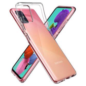 Samsung A51 Spigen Liquid Crystal silikoonist umbris labipaistev 3