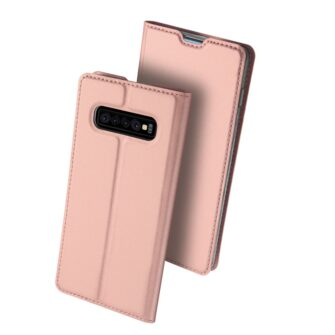 Samsung S10 Plus kaaned Dux Ducis Skin Pro Bookcase roosa 1