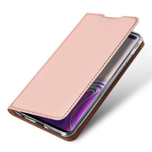 Samsung S10 Plus kaaned Dux Ducis Skin Pro Bookcase roosa 3