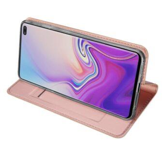 Samsung S10 Plus kaaned Dux Ducis Skin Pro Bookcase roosa 4