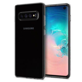 Samsung S10 Spigen Liquid Crystal silikoonist umbris Crystal Clear 3