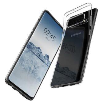 Samsung S10 Spigen Liquid Crystal silikoonist umbris Crystal Clear 4