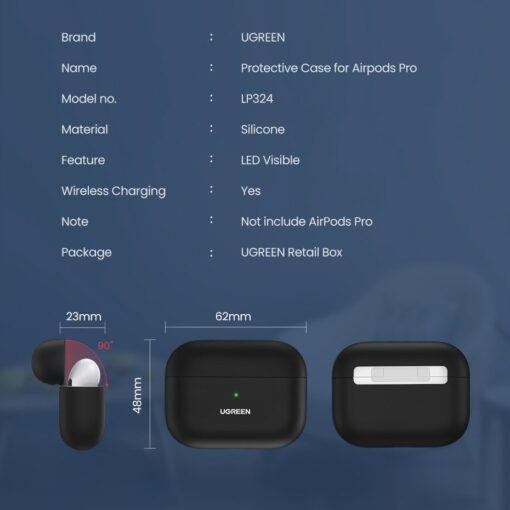 Ugreen Silica Gel AirPods Pro Case umbris kaaned roheline 80514 12