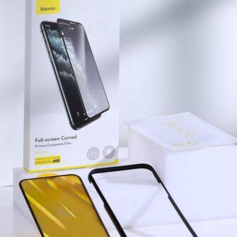 iPhone 11 Pro Max 3D 0.25mm privaatsisufiltriga kaitseklaas 17