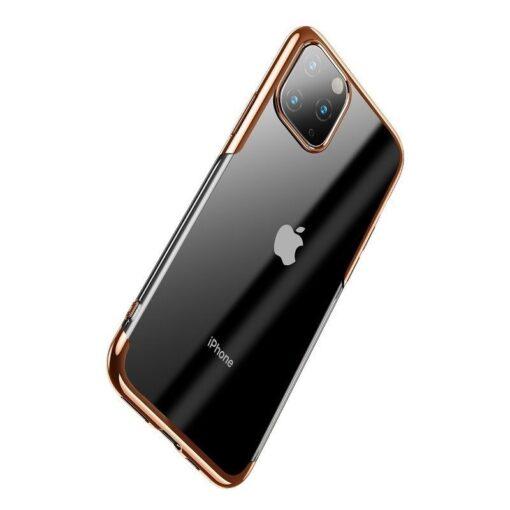 iPhone 11 Pro Max laikivate servadega silikoonist umbris Baseus Shining kuldne 2
