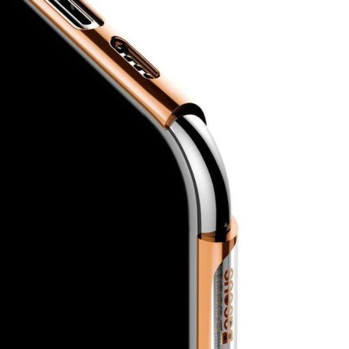 iPhone 11 Pro Max laikivate servadega silikoonist umbris Baseus Shining kuldne 4