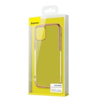 iPhone 11 Pro Max laikivate servadega silikoonist umbris Baseus Shining kuldne 5