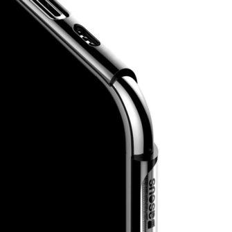 iPhone 11 Pro Max laikivate servadega silikoonist umbris Baseus Shining must 4