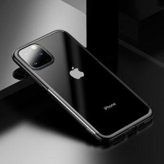 iPhone 11 Pro Max laikivate servadega silikoonist umbris Baseus Shining must 5