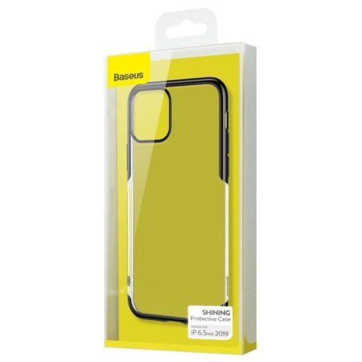 iPhone 11 Pro Max laikivate servadega silikoonist umbris Baseus Shining must 6