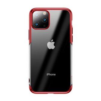 iPhone 11 Pro Max laikivate servadega silikoonist umbris Baseus Shining punane 1